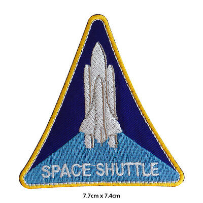 NASA USA Space Shuttle Embroidered Patch Iron On Sew On Badge For Clothes Etc • 1.99£