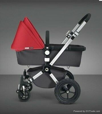 Bugaboo Cameleon 3 Red With Maxi Cosi Pebble, Pearl, Isofix & Adaptors • 350£