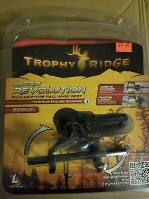 $44.99 • Buy Trophy Ridge Micro Revolution Full Capture Fall Away Rest Left Hand ADA200L