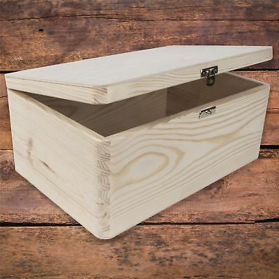 Wooden Memory Keepsake Storage Box With Lid-Clasp / Natural Decorative Wood • 14.95£