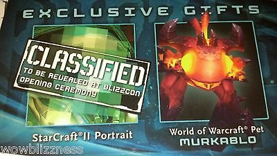 BLIZZCON 2011 WoW WORLD OF WARCRAFT MURKABLO PET LOOT CARD CODE - UNUSED!!! • 186.34£