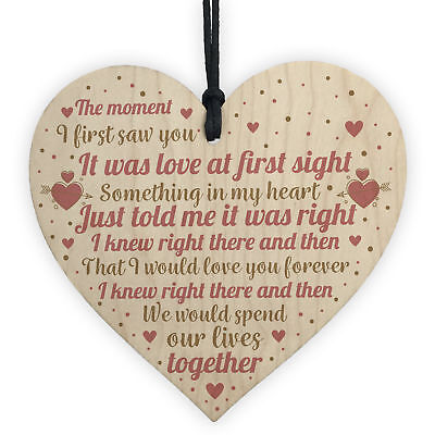 Perfect Anniversary Gifts For Husband Wife Romantic Love Relationship Plaques • 3.99£