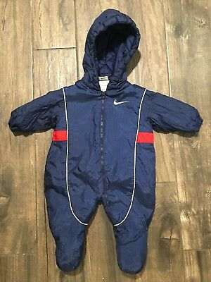 8838bdbd8e1598 VTG Nike 3-6 Month 3m 6m Infant One Piece Hooded Zip Up Snow Suit