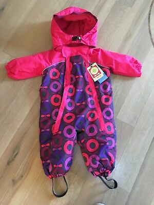BNWT Fab KATVIG Pink & Purple Mix Patterned Snow Suit Size 74-approx Age 9 Mnth • 40£