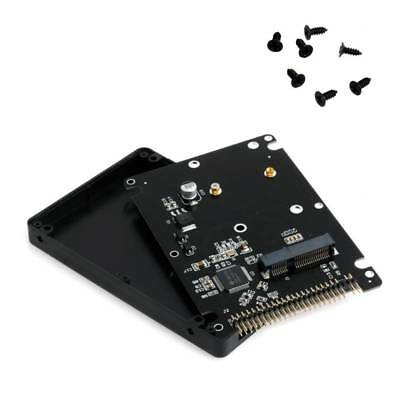 MSATA To 2.5  IDE SSD HDD MSATA To PATA Converter Adapter Card 44PIN With Case • 6.87£
