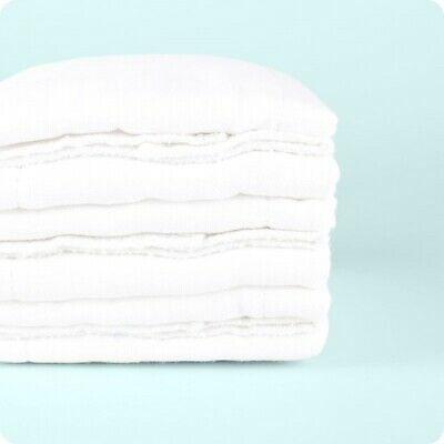 £9.95 • Buy Muslinz 100% Cotton Prefolds- 6pk White Cotton Nappies | Washable Nappies