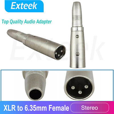 AU5.75 • Buy XLR Male To 6.5mm 1/4 Inch TRS Female Adapter Converter 6.35mm Guitar Mic Line