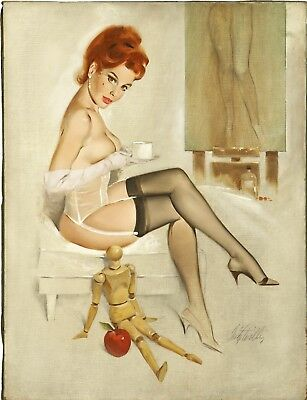 £15.29 • Buy Sexy Vintage Pin-Up - Classic Women Lingerie Art Poster / Canvas Picture Print