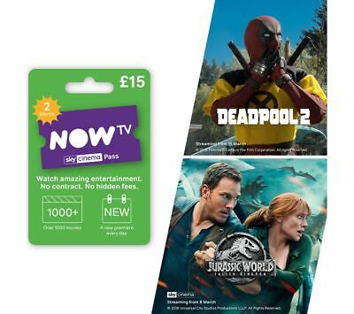 View Details NOW TV Sky Movies Pass - 2 Month - Currys • 15.00£