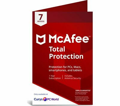 View Details MCAFEE Total Protection 2019 - 1 Year For 7 Devices - Currys • 19.99£