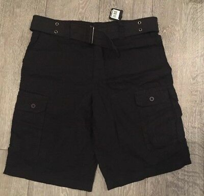 Airwalk 100% Cotton Shorts 32 Waist With Belt Phantom Black BNWT $42 • 24.95£