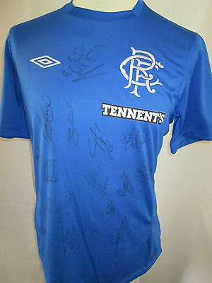 Rangers 2012-2013 Home Football Shirt Signed By 2013-2014 Squad With COA /31965 • 94.99£