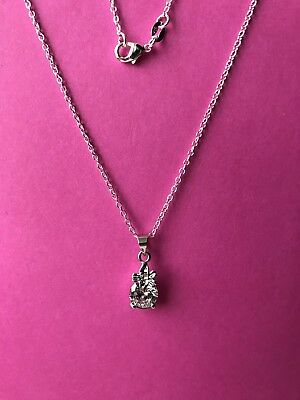 £4.99 • Buy Sterling Silver 925 Necklace With Diamanté Charm