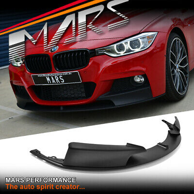 AU269.99 • Buy Matt BLK Performance Style Front Bumper Bar Lip For BMW 3 Series F30 F31 M Sport