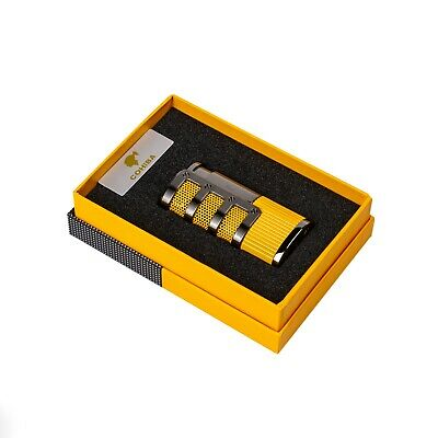 Cohiba Lighter Windproof 3 Torch Jet Lighter Cohiba Cigar Lighter With Punch • 26.99£