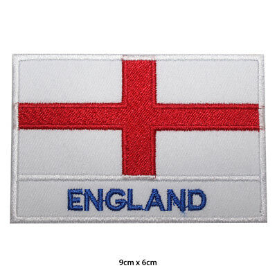 England National Flag Embroidered Patch Iron On Sew On Badge For Clothes Etc • 1.99£