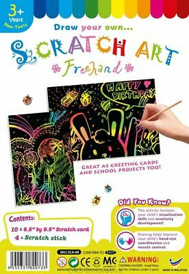 Scratch Art Craft Kits (See Listings)  Masks, Pictures, Bracelets, Bookmarks • 1.99£