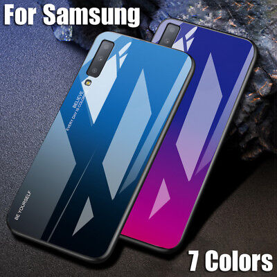 $ CDN6.68 • Buy For Samsung Galaxy S20 S10 S9/8 Note 10+ A51 Gradient Tempered Glass Case Cover