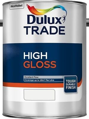 Dulux Trade High Gloss Paint Pure Brilliant White / White / Black - All Sizes • 18.83£