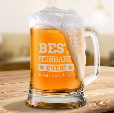 AU24.99 • Buy Personalised Valentines Day Beer Mug Engraved Valentine's Day Gift For Him