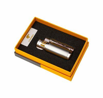 Cohiba Lighter Windproof Metal 3 Jet Lighter Cohiba Cigar Lighter Punch  • 27.99£