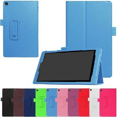 Leather Flip Folio Case Stand Cover For Amazon Kindle Fire HD 8  2017 2018 • 4.99£