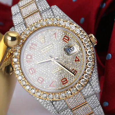 $ CDN42286.85 • Buy Rolex Datejust 41 126303 Stainless Steel & 18k Yellow Gold Fully Iced Out Watch