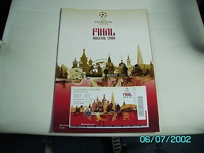 2008 Manchester United V Chelsea Champions League Final Programme & Ticket • 8.99£