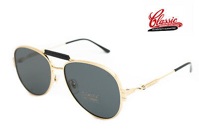 3be8629f7a17 VERSACE SUNGLASSES VE2167Q 100287 Gold With Black Frame Grey Lens • 169.00AU