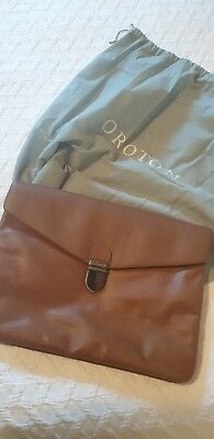 AU70 • Buy Oroton Tan Leather Clutch. As New Condition.