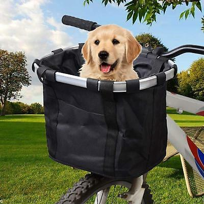 £19.37 • Buy Bike Dog Carrier Front Box Bicycle Basket Pet Seat Easy Travel Stable Holder New