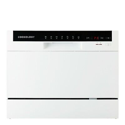 Cookology CTTD6WH Freestanding Compact Table Top Dishwasher, 6 Place Settings • 219.99£
