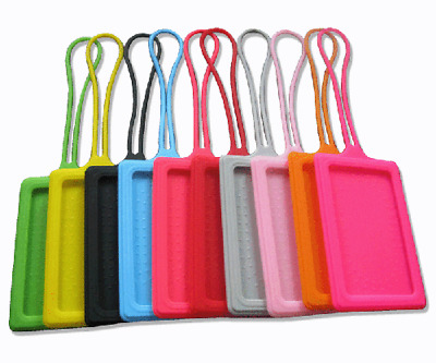 £1.79 • Buy Silicone Luggage Baggage Tags Labels Name Address Suitcase Travel *FREE UK POST*