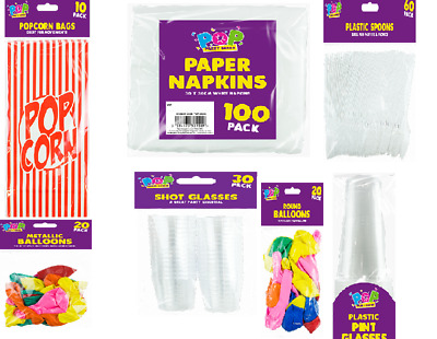 Disposable Plastic -party Items Spoons, Cups, Table Cloth, Napkins & Many More • 4.46£