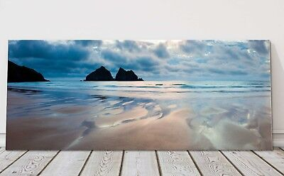 £24.95 • Buy Holywell Bay Stormy Night Sky Panoramic Canvas Print Cornwall Framed Picture
