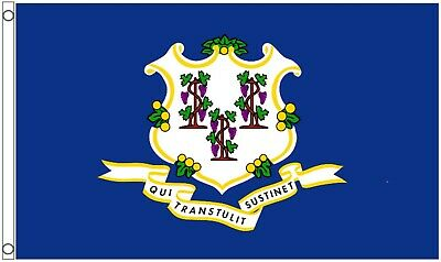 Connecticut State United States Of America 5'x3' Flag - LAST FEW • 2.99£