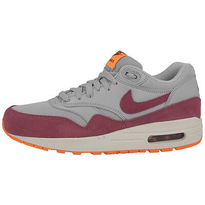 info for b772d b8bae Nike Air Max 1 Essential Zapatillas De Mujer Zapatos 599820-015 Gris Rojo 90  95