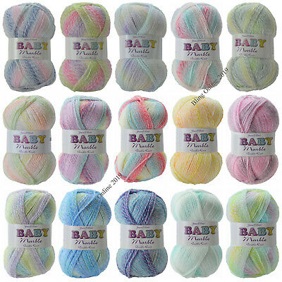 JAMES C BRETT BABY MARBLE DK DOUBLE KNITTING CROCHET YARN POLYESTER WOOL 100g  • 4.65£