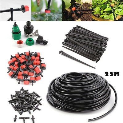 DIY Micro Drip Irrigation System Plant Self Watering Garden Hose Kits Drippers • 10.99£