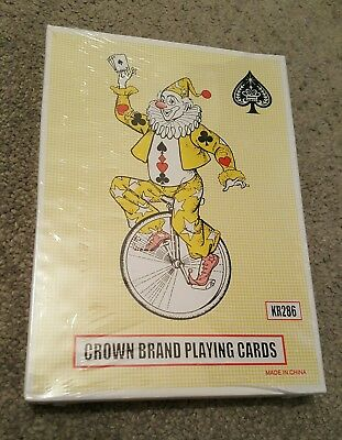 "AU14.42 • Buy NEW Vintage Crown Brand Jumbo Plastic Coated Deck Of Cards 5x7"" Kids Games/Gifts"