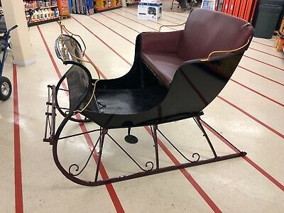 $2200 • Buy 1934 Two Person Horse Drawn Sleigh - Refurbished, New Upholstery/Carriage Paint