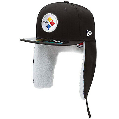 e0b0f78f277 New Era Pittsburgh Steelers On Field Dog Ear Flap Trapper 59Fifty Fitted  Cap Hat • 39.99