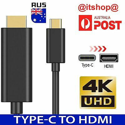 AU11.89 • Buy USB-C To HDMI Cable 4K USB 3.1 Type C Male To HDMI Male Cable Chromebook Macbook