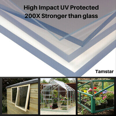 Clear Polycarbonate Sheet Palram Solid Plastic Greenhouse Shed Window Panel 2mm • 34.99£