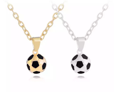 FOOTBALL Necklace Chain Pendant Gold/Silver Sports Soccer Fan Kids Adults 476 • 3.75£