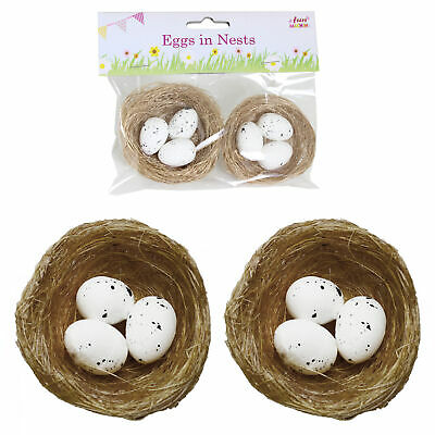 Easter Arts And Craft, Decorations, Egg Hunt - 2 Pack Craft Nests • 2.50£