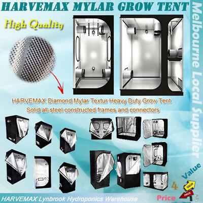 AU144 • Buy HYDROPONICS METAL POLE GROW ROOM HARVEMAX MYLAR GROW TENT FOR MH HPS GROW LiGHT