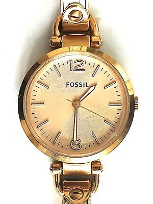 42602b41180 Fossil Georgia Wrist Watch Women s White Leather Rose Gold Stainless Steel  • 69.00
