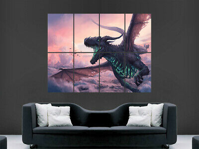 Dragon Fantasy Poster Giant Wall Art Picture Print Large Huge • 17.99£
