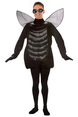 Adult Fly Costume Mens Ladies Insect Bug Fancy Dress Silly Party Halloween NEW • 22.99£